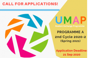 Call for Applications UMAP Student Exchange Programme the 2nd Cycle of Programme A&B 2020-2 (Spring 2021)