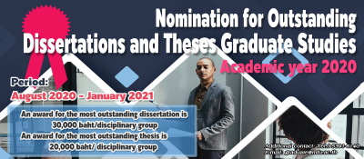Nomination for Outstanding Dissertations and Theses Graduate Studies, Academic year 2020