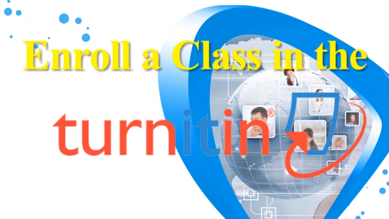 การ Enroll a class in turnitin