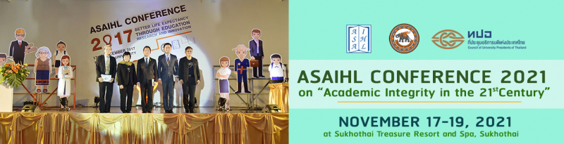 "ASAIHL Conference 2021 on ""Academic Integrity in the 21st Century"", November 17-19, 2021"