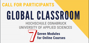 Call for Participants Global Classroom, Osnabrück University of Applied Sciences (OS UAS)
