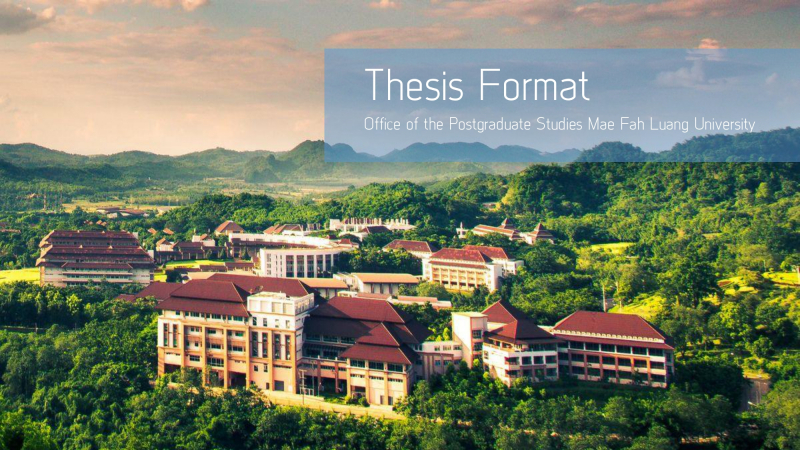 Formatting of Dissertation, Thesis and Independent Study Guide English version