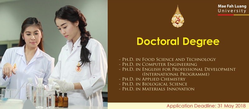 Doctoral Degree (Academic Year 1/2018)
