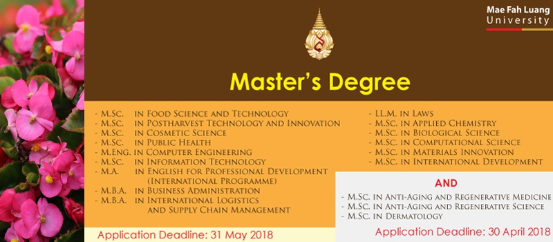 Master's Degree (Academic Year 1/2018)